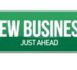 new business sign illustration design over white